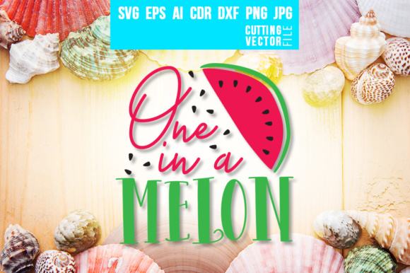 One in a Melon Graphic Crafts By danieladoychinovashop