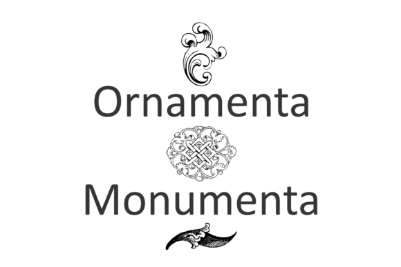 Print on Demand: Ornamenta Monumenta Dingbats Font By Intellecta Design - Image 2