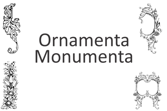 Print on Demand: Ornamenta Monumenta Dingbats Font By Intellecta Design - Image 4