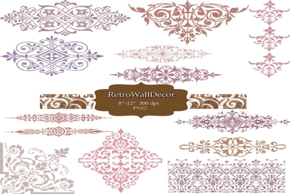 Download Free Ornaments Clip Art Graphic By Retrowalldecor Creative Fabrica for Cricut Explore, Silhouette and other cutting machines.