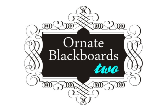 Print on Demand: Ornate Blackboards Family Dingbats Font By Intellecta Design
