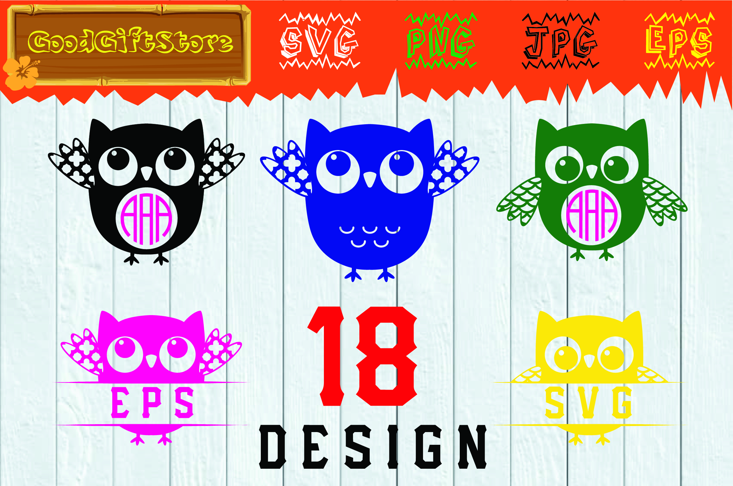 Download Free Owl Monogram Frames Graphic By Piedesigner Creative Fabrica for Cricut Explore, Silhouette and other cutting machines.