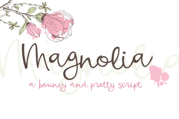 Print on Demand: Magnolia Script & Handwritten Font By Illustration Ink