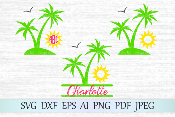 Download Free Palm Tree Graphic By Magicartlab Creative Fabrica for Cricut Explore, Silhouette and other cutting machines.