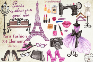 Print on Demand: Paris Fashion Clipart Graphic Illustrations By LeCoqDesign