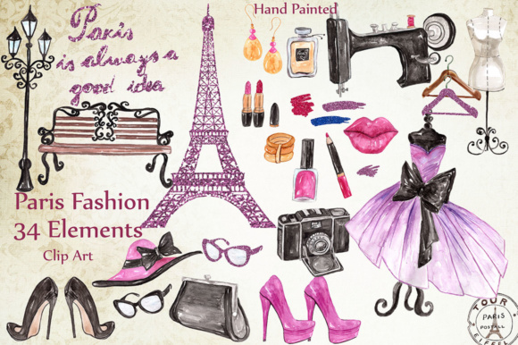 Paris Fashion Clipart Graphic Illustrations By LeCoqDesign