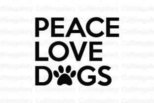 Download Free Peace Love Dogs Cut File Graphic By Cutfilesgallery Creative for Cricut Explore, Silhouette and other cutting machines.