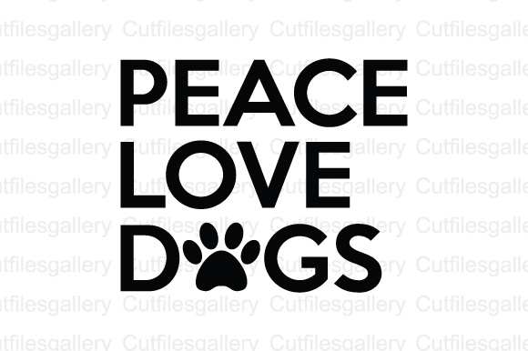 Download Free Peace Love Dogs Svg Dxf Png Cut File Graphic By for Cricut Explore, Silhouette and other cutting machines.
