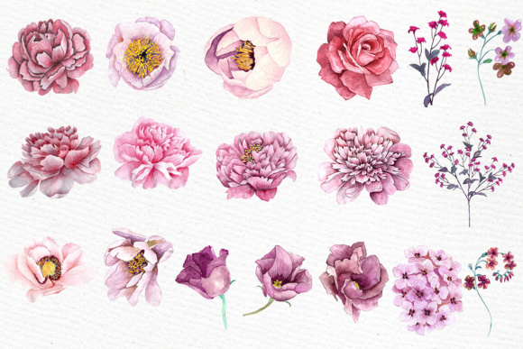 Pink flowers clipart watercolor clipart floral clipart pink pink flowers clipart watercolor clipart floral clipart pink watercolor wedding flowers watercolor flowers mightylinksfo