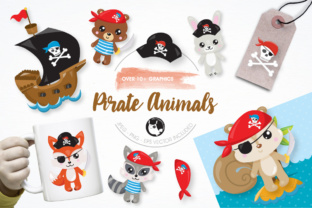 Download Free Pirate Animals Graphics And Illustrations Graphic By for Cricut Explore, Silhouette and other cutting machines.
