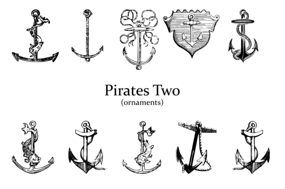 Print on Demand: Pirates Two Dingbats Fuente Por Intellecta Design