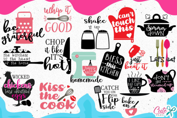 Kitchen Bundle Graphic Objects By Cute files