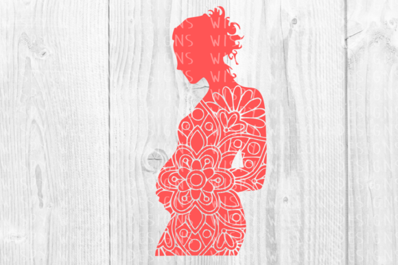 Download Free Pregnant Woman Birth Life Mandala Mother Baby Cut File for Cricut Explore, Silhouette and other cutting machines.