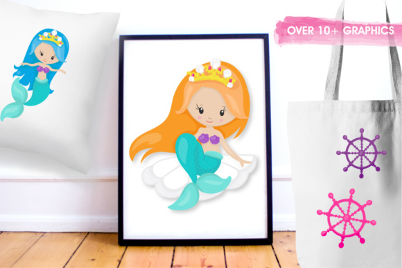 Print on Demand: Princess Mermaids Graphics and Illustrations Graphic Illustrations By Prettygrafik