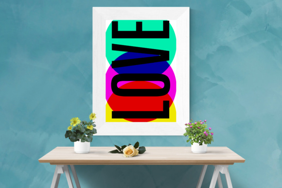 Print on Demand: Print Ready Graphic 'Love' Print for Home or Office + Freebies Graphic Crafts By GraphicsBam Fonts