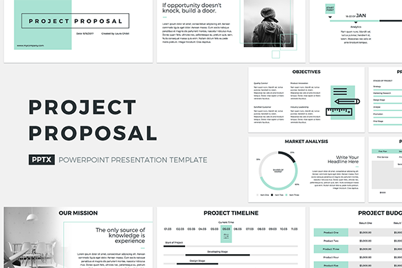 Project Proposal PowerPoint Template Graphic Presentation Templates By JetzTemplates