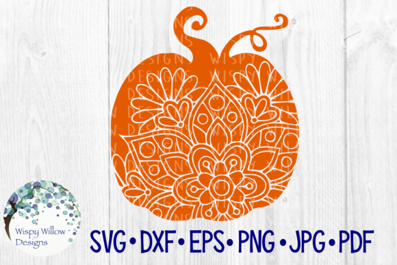 Download Free Pumpkin Mandala Halloween Fall Zentangle Pumpkin Cut File for Cricut Explore, Silhouette and other cutting machines.