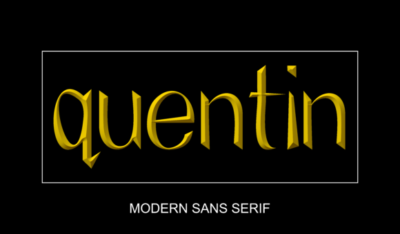 Print on Demand: Quentin Sans Serif Font By alifquentin