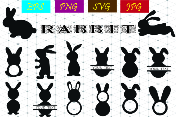 Rabbit Graphic Graphic Graphic Templates By Best_Store