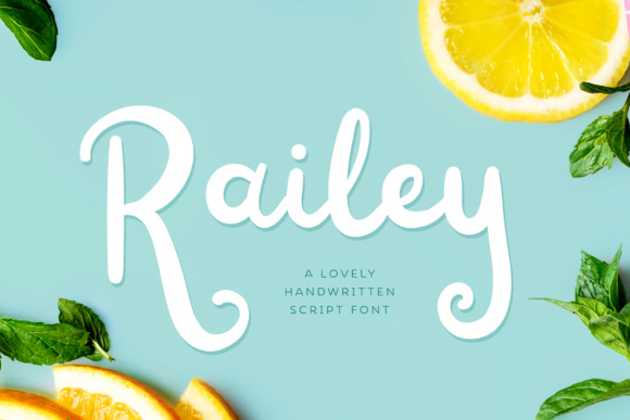 Print on Demand: Railey Script Script & Handwritten Font By typefairy
