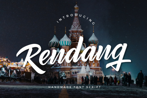 Print on Demand: Rendang Script & Handwritten Font By Micromove
