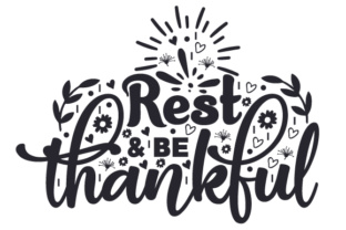 Rest & Be Thankful Craft Design By Creative Fabrica Crafts