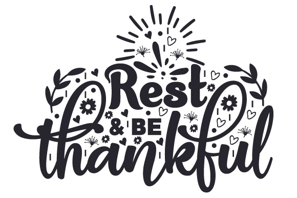 Rest & Be Thankful Bedroom Craft Cut File By Creative Fabrica Crafts