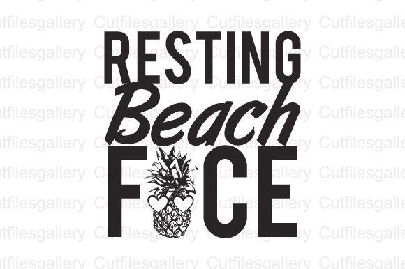 Download Free Resting Beach Face Svg Dxf Png Cut File Graphic By for Cricut Explore, Silhouette and other cutting machines.