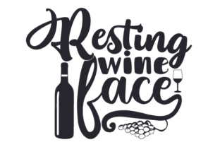 Resting Wine Face Craft Design By Creative Fabrica Crafts