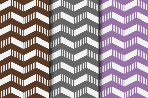 Download Free Retro Striped Chevron Digital Paper Collection Graphic By for Cricut Explore, Silhouette and other cutting machines.