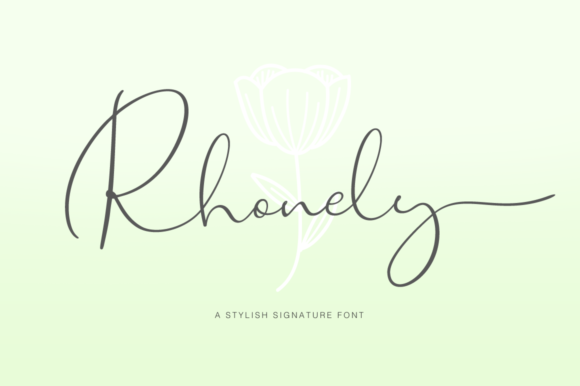 Print on Demand: Rhonely Script & Handwritten Font By Pasha Larin