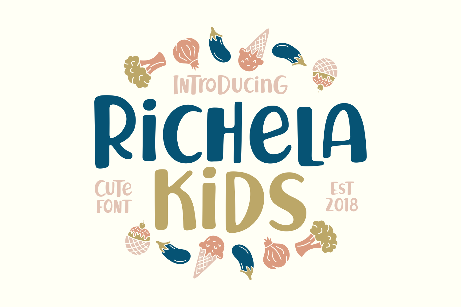 Download Free Richela Kids Font By Keithzo 7ntypes Creative Fabrica for Cricut Explore, Silhouette and other cutting machines.