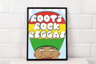 Download Free Roots Rock Reggae Poster A2 To A5 Print Ready Graphic By for Cricut Explore, Silhouette and other cutting machines.