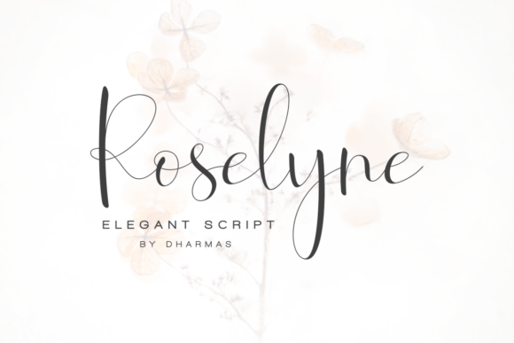 Print on Demand: Roselyne Script Script & Handwritten Font By dharmas