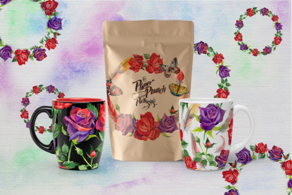 Print on Demand: Roses Watercolor PNG Set Graphic Illustrations By MyStocks - Image 2