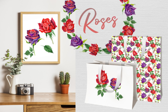 Print on Demand: Roses Watercolor PNG Set Graphic Illustrations By MyStocks - Image 3