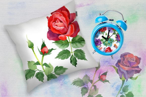 Print on Demand: Roses Watercolor PNG Set Graphic Illustrations By MyStocks - Image 5