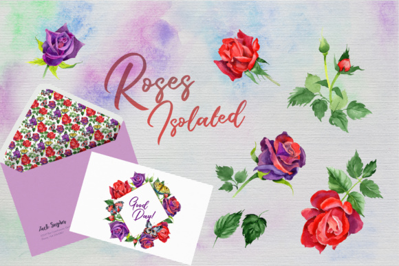 Print on Demand: Roses Watercolor PNG Set Graphic Illustrations By MyStocks - Image 7