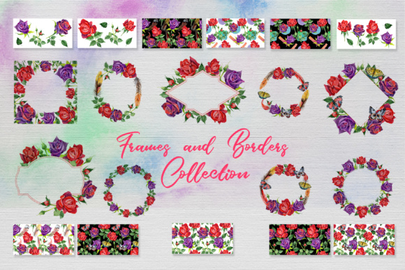 Print on Demand: Roses Watercolor PNG Set Graphic Illustrations By MyStocks - Image 9