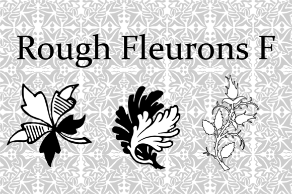 Print on Demand: Rough Fleurons F Dingbats Font By Intellecta Design
