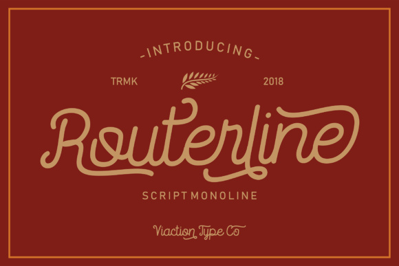 Print on Demand: Routerline Display Font By Viaction Type.Co