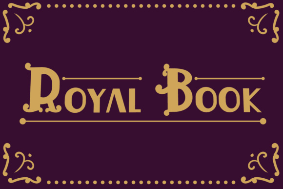 Print on Demand: Royal Book Display Font By Lickable Pixels - Image 1