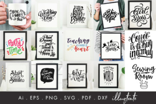 Print on Demand: 75 Quotes Bundle Graphic Crafts By illuztrate 3