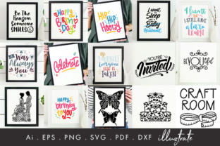 Print on Demand: 75 Quotes Bundle Graphic Crafts By illuztrate 6