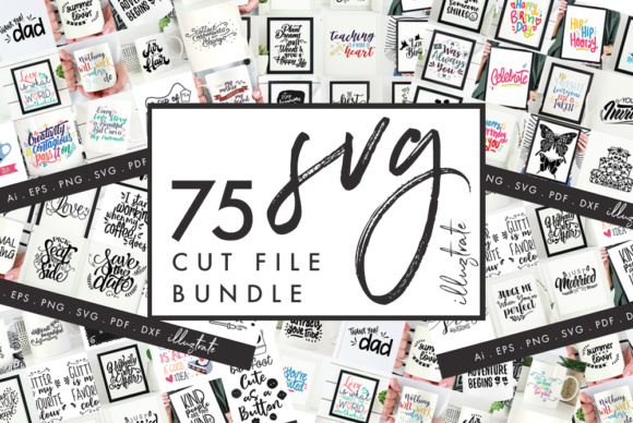 Download Free 75 Quotes Bundle Graphic By Illuztrate Creative Fabrica for Cricut Explore, Silhouette and other cutting machines.