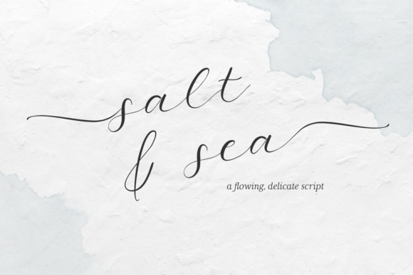 Print on Demand: Salt and Sea Script & Handwritten Font By BeckMcCormick