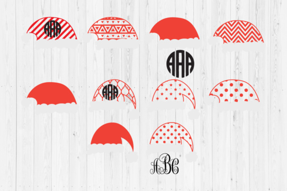 c185dc5390734 Santa Hats SVG Cut Files Graphic by Cutperfectstudio - Creative Fabrica