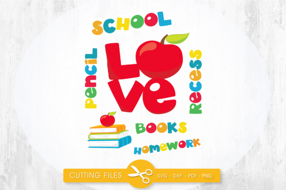 School Titles - Love Graphic Crafts By PrettyCuttables