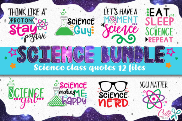 Download Free Science Class Bundle Graphic By Cute Files Creative Fabrica for Cricut Explore, Silhouette and other cutting machines.