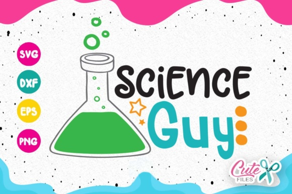 Download Free Science Guy Boy Science Class Back To School Graphic By Cute for Cricut Explore, Silhouette and other cutting machines.